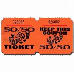 50/50 Wide Raffle Tickets
